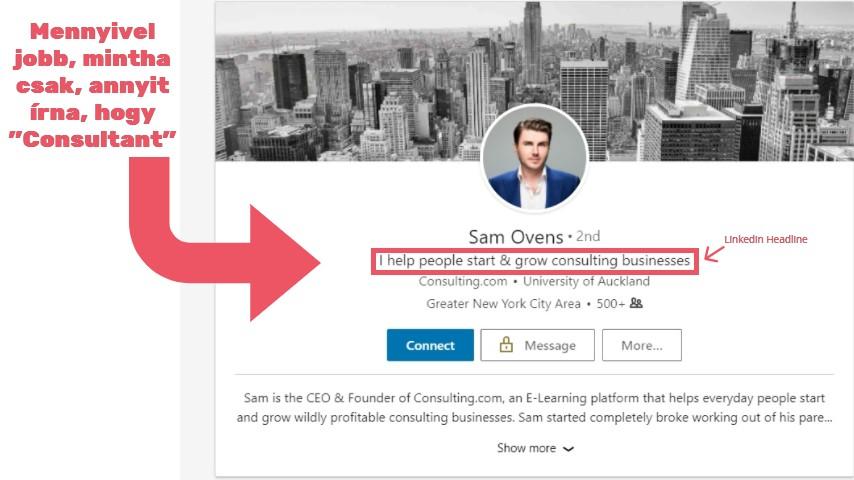Sam Ovens networking példa