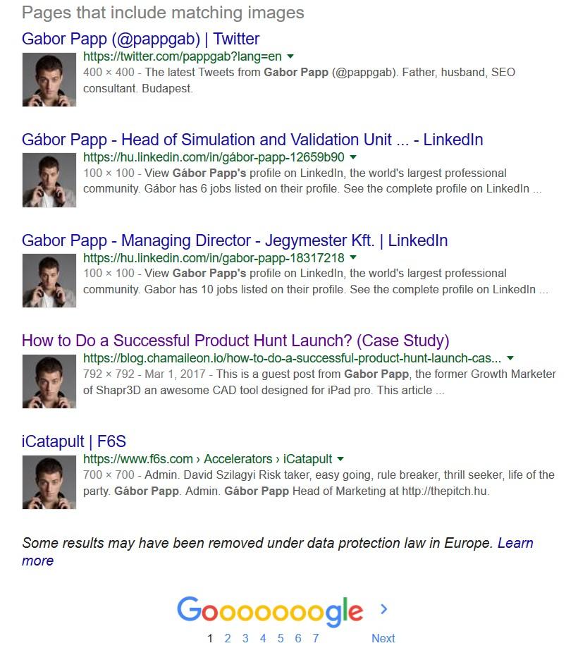 Papp Gábor személyes márka search results